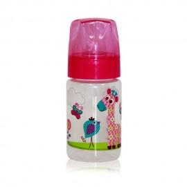 Dojčenská fľaša Zoo 125 ml. ružová